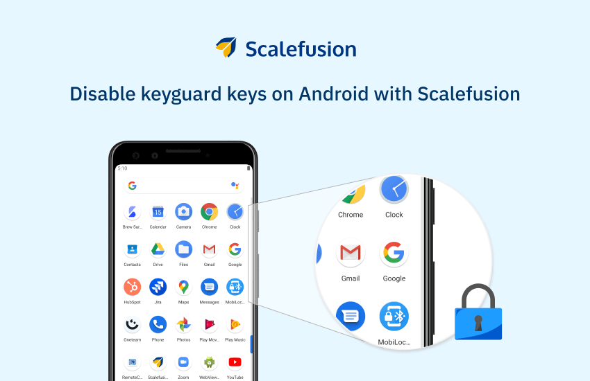 How to Disable Hardware Keys on Android devices using Scalefusion?