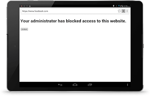 how to block a website on android phone